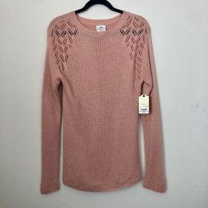 NWT St. John's Bay Pink Cutout Design Sweater